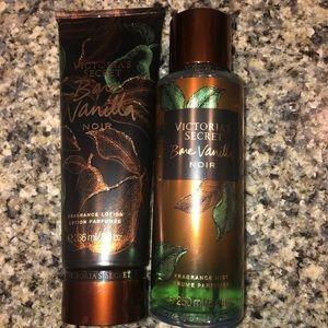 VS bare vanilla noir lotion and mist set